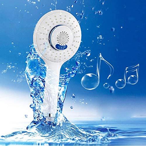 ZLININ Ducha de mano de la música del teléfono de la ducha de la cabeza de ducha estéreo Bluetooth
