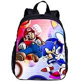 Ange Sonic Mochila Nuevo Super Mario Fashion School Bolsas Mochilas para Niños Niños Niños Sonic El Erizo Impresión Niños Mochila Infantil Mochila Infantil