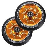 CXJYBH Ruedas de la Scooter Piezas de Repuesto de la aleación de la aleación de 110 mm de la aleación con los rodamientos for Empujar/patear/Truco Scooter 2pcs / Set Ruedas Scooter