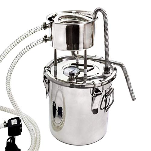 BSJZ Destilador casero Moonshine Still Termómetro de Caldera de Acero Inoxidable Espíritus de Vino Aceite Esencial Kit de elaboración de Agua Kits de destilación de
