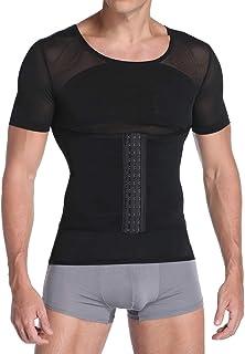 Joweechy Men's Body Shaper Waist Belt Slimming Shapewear Underwear Compression Shirt Tummy Control Waist Trainer