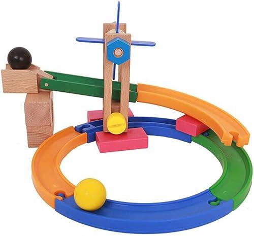 saludable SXPC Madera Roller Coaster Coaster Coaster Construction Marble Race Run Maze Balls Track Build Blocks Juguetes educativos para Niños  los clientes primero