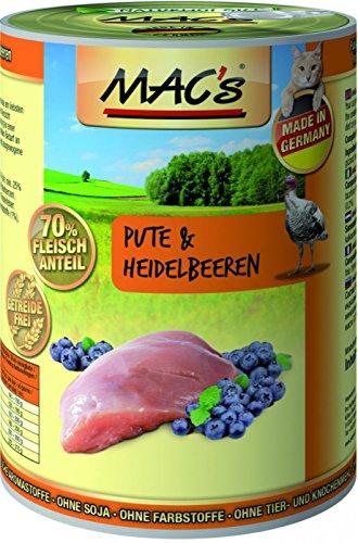Mac's Katzenfutter getreidefrei Pute & Heidelbeeren, 400 g