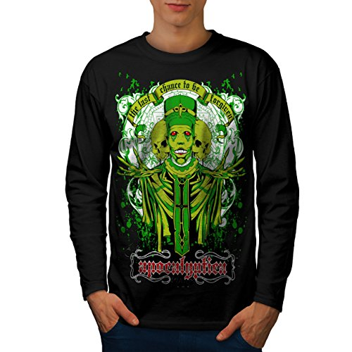 wellcoda Apocalyptica Tod Zombie Männer Langarm T-Shirt Böse Grafikdesign