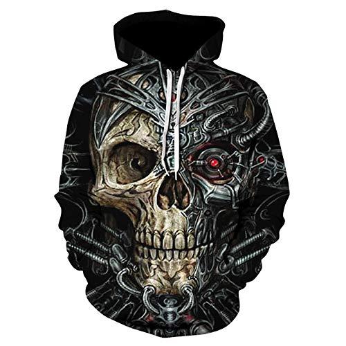 Sweat à capuche unisexe unisexe avec capuche pour Halloween, Soul Cal Hoodie, pull à capuche imprimé 3D HD - Sweat-shirts légers avec poches (S-5XL) - - L
