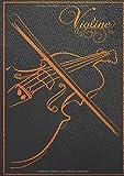 Notenpapier für Violine: Blanko Notenbuch für Violine   Din A4 hoch   120 Seiten, 60 Blatt, 12 Systeme