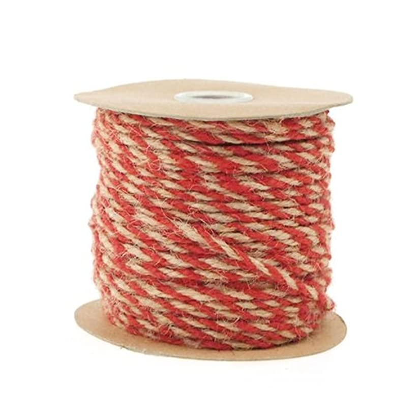 Homeford Firefly Imports Jute Twine Cord Ribbon Bi-Colored, 5/64-Inch, 50 Yards, Red, 5/64