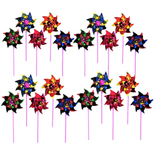 20 pz FAI DA TE Carino Girandole Colorate Mulino A Vento Spinner per Bambini Giocattolo Giardino Prato Decorazioni Decorazioni per la Festa Nuziale Colore Casuale