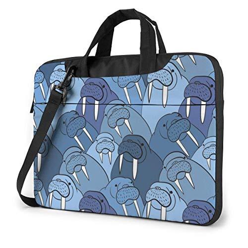 15.6″Durable Hombro Mensajero Bolsa maletín PC Muro de morsa Moda Impermeable Ordenador Portátil/portátil/Tablets