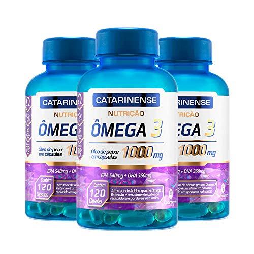 Ômega 3-3 unidades de 120 cápsulas - Catarinense