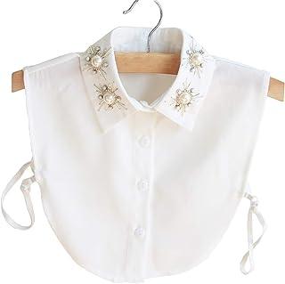 (ビグッド)Bigood つけ襟 偽襟 レディース シフォン ブラウス 付け襟 シャツ フェイク襟 インナー 角襟 衿 重ね着 コーディネート