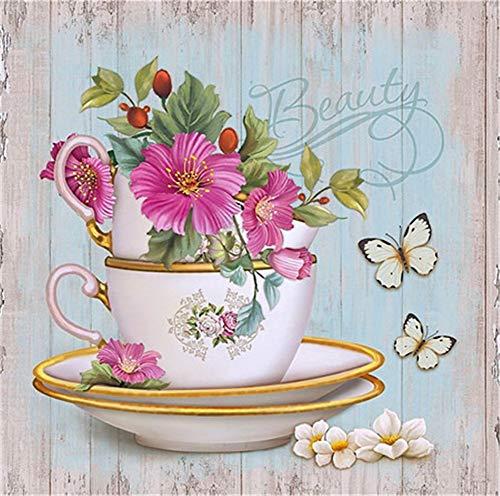 DIY 5D Kit de Pintura de Diamante Conpleto flor Diamond Painting Craft del Imịtạciòn de Bordado de Punto para Salones o dormitorios para decoraciòn Navịdad 45x45cm A1090
