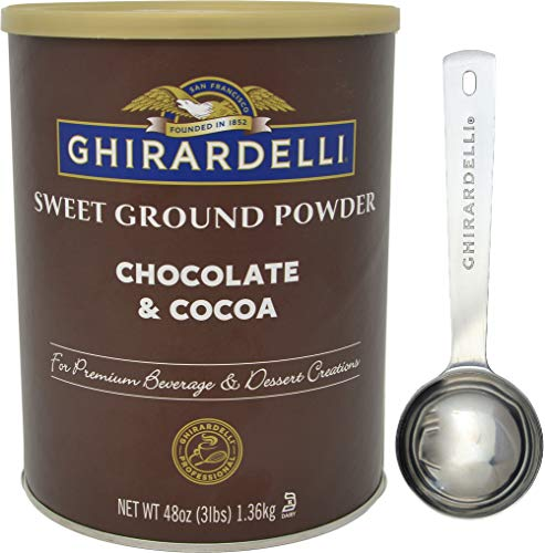 Ghirardelli - Sweet Ground Chocolate & Cocoa Gourmet Powder 3 lbs - with Exclusive Measuring Spoon