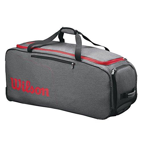 Wilson Unisex Reisetasche/Wheeled Coaches Duffel mit 2 Rollen, grau/rot, WRZ847894