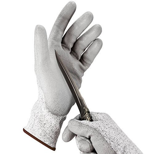 Cut Resistant Gloves(1 Pair), Hard Crafts Cut Resistant Gloves - Best Food Grade Kitchen Level 5 Cut Protection - Lightweight, Breathable, and Extra Comfortable
