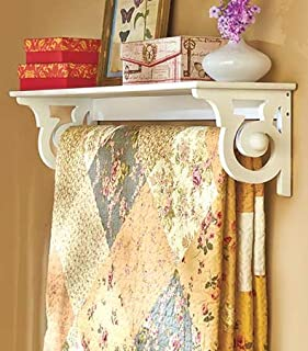 Deluxe Quilt Rack with Shelf (White)