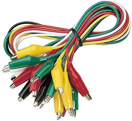 MC POWER - Krokoklemmen-Satz | GT-1810 | 10-teilig, 50 cm Kabellänge | für Prüfaufbauten/Messtechnik und für Stromanschluss