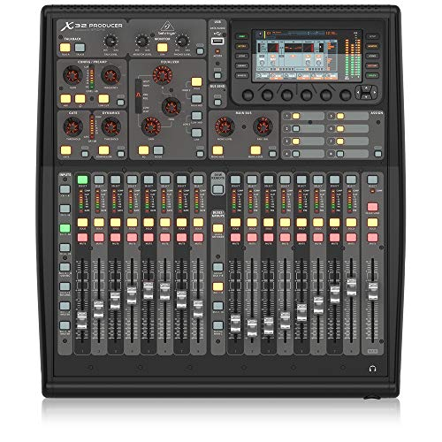 BEHRINGER, 32 X32 PRODUCER-TP 40-Input 25-Bus Rack-Mountable Digital Mixing Console with 16 Programmable Midas Preamps Black, (X32PRODUCERTP)