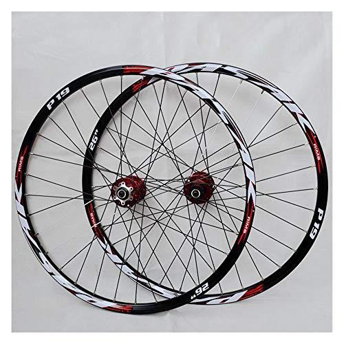 CHUDAN Mountain Bike Ruote, Ruota Bicicletta da 29/26 / 27,5 Pollici (Anteriore + Posteriore) Cerchio MTB in Lega di Alluminio A Doppia Parete Rilascio Veloce Freno A Disco 32H 7-11 velocità,C,29in