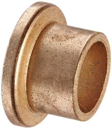 """Bunting Bearings EXEF081008 Extra Lubricant with PTFE, Flange Bearing, Powdered Metal, SAE 841 1/2 """" Bore x 5/8 """" OD x 1/2 """" Length 7/8 """" Flange OD x 1/8 """" Flange Thickness (3 Pack)"""