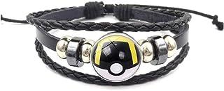 iEay Bracelet de Motif Monstre de Pokémon - Bracelet tressé en image de Le jeu vidéo Pokémon Rouge et Bleu - Excellent cad...