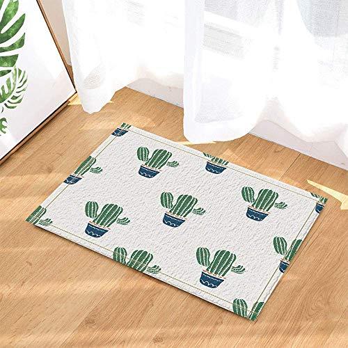 xuelizhou donkerblauwe bloempot op witte achtergrond groen mooie plant Cactus badkamer deurmat anti-slip vloer indoor veranda pad kinderen 40X60CM accessoires