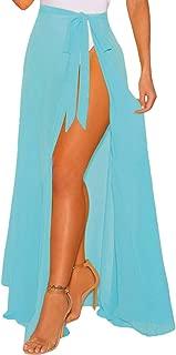 Eternatastic Womens Wrap High Waist Summer Beach Cover up Maxi Skirt Bikini Sarong