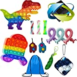 Hoqque Fidget Toys Pack Antiestres Set NiñOs Juguetes Push Anti EstréS Bubble Kit Adultos Paquete Cosas Sensorial Infinity Cube Simple Dimple