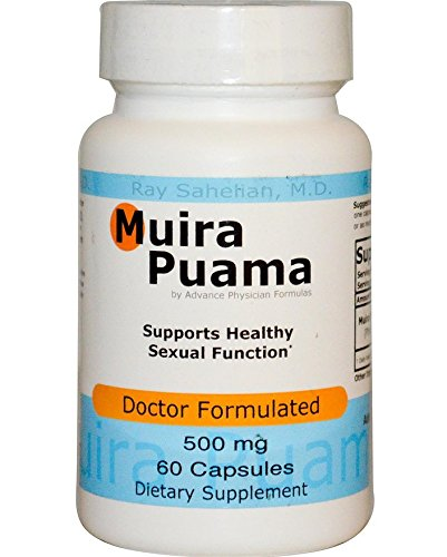 2 Bottles Muira Puama Extract Potency Wood Libido Supplement for Men and Women, 500 mg, 60 Capsules - Endorsed by Dr. Ray Sahelian, M.D (Best Way To Give Cunnilingus)