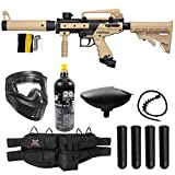 Maddog Tippmann Cronus Tactical Silver CO2 Paintball Gun Marker Starter Package - Black/Tan