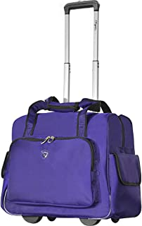 Deluxe Fashion Rolling Overnighter (Purple)