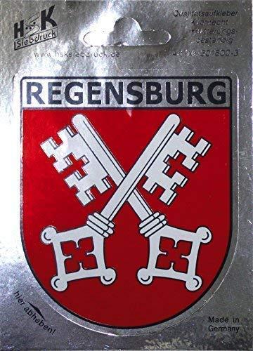 PVC-Aufkleber - Regensburg Wappen - 301600/3- Gr. ca. 6,5 x 8 cm