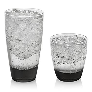Libbey Classic Smoke 16-piece Drinkware Glass Set