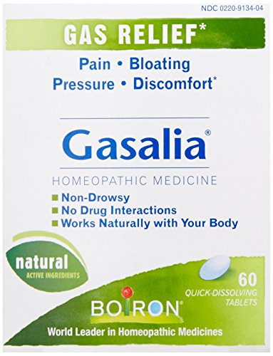 Boiron Gasalia, 3 Pack, (60 Tablets per Pack), Homeopathic Medicine for Gas Relief