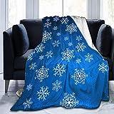 Manta de microfibra con estampado de copos de nieve,ultra suave,ligera,acogedora,cálida y cálida,para cama,sofá,sala de estar,todas las estaciones,mesa de colores,raqueta de tenis,60 'x 50'