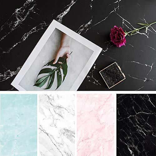 Bcolor Marmor-Fotopapier, 4 Stück, 56 x 88 cm, doppelseitig, für Lebensmittel, Schmuck, Tisch-Blog Bilder, Requisiten, 8 Muster
