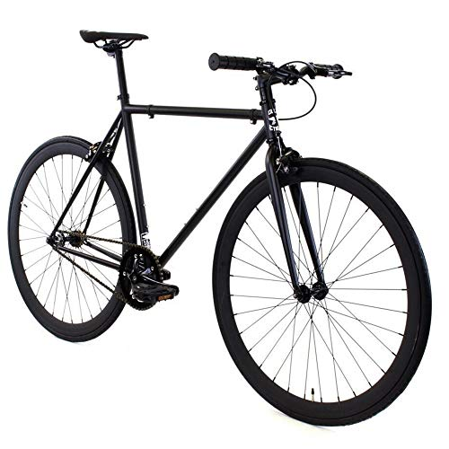 Golden Cycles Fixed Gear Bike Steel Frame with Deep V Rims Collection, Vader, 55