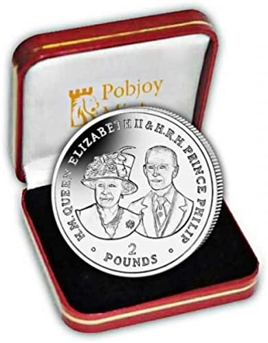 British Indian Ocean 2017 Platinum Wedding  80th Birthday  Proof Silber Coin