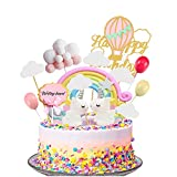 Decoracion Tartas Infantiles,Decoración Tarta Unicornio,Decoración Unicornio Cumpleaños,Se puede utilizar para decoración de pastel de fiesta infantil,Cumpleaños Unicornio