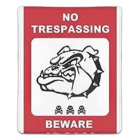 マウスパッド 犬注意 レーザー&光学マウス対応 防水/洗える/滑り止め サイズ:18 x 22 x 0.3 cm