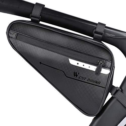 WESTLIGHT Fahrradtasche Rahmen wasserdicht Fahrradrahmentasche, Triangle Fahrradaufbewahrung Rahmentasche, Fahrrad Werkzeugtasche, Satteltasche für Mountainbikes,Rennräder(Kapazität von 3 hat)