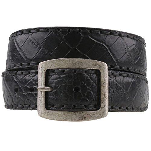 Sendra ceinture en cuir effet croco 879 noir - Noir - 100