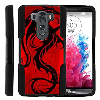 TurtleArmor   Compatible with LG V10 Case   LG G4 Pro Case [Gel Max] Hybrid Dual Layer Hard Shell Kickstand Silicone Case - Red Dragon