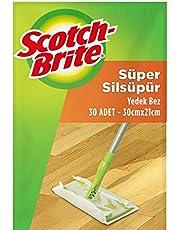 Scotch-Brite 2057914 Sil Süpür Kullan At Kuru Bez 30'lu