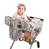 Lekebaby Shopping Cart Cover for Baby, 2-in-1 High Chair Cover for Infants, Toddler, Boy or Girl, Machine Washable, Gray