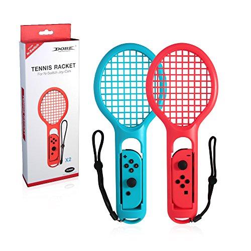 OOLG Raqueta de Tenis Twin Pack para N-Switch Joy-con Controladores para Mario Tennis Games Accesorios Joy-con de Controlador de Juego para Nintendo
