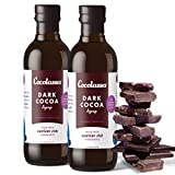 Cocolasses Dark Chocolate Syrup | Made with Real Cocoa and Blackstrap Molasses | Gluten Soy Peanut and Dairy Free | No High Fructose Corn Syrup | For Pancakes Ice Cream and Coffee | 12 fl oz 2 pk