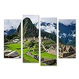 islandburner Bild Bilder auf Leinwand Machu Picchu in Peru