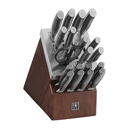 HENCKELS J.A International Graphite 20-pc Self-Sharpening Block Set, Brown, Silver