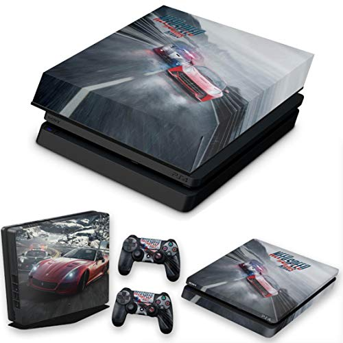Capa Anti Poeira e Skin para PS4 Slim - Need For Speed Rivals